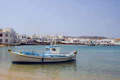 Harbor greek island Royalty Free Stock Photo