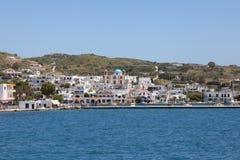Harbor of the greek island Lipsi Stock Image