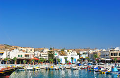 Harbor in a Greek town Royalty Free Stock Image
