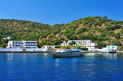 Harbor in a Greek town Stock Photography