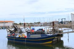 Harbor Gruissan in France royalty free stock images
