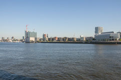 Harbor Hamburg with the Elbe Philharmonic Hall Royalty Free Stock Image