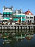The harbor of Harlingen. Netherlands, Harlingen,-june 2016: Zuiderhaven in Harlingen Royalty Free Stock Photo