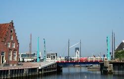 The harbor of Harlingen. Netherlands, Harlingen,-june 2016 Zuiderhaven Royalty Free Stock Image