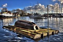 Harbor in hdr Stock Images