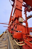 Harbor heavy equipment Royalty Free Stock Photography