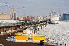 Harbor of Helsinki Stock Photos