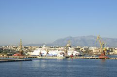 Harbor of Heraklion Royalty Free Stock Photography