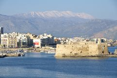 Harbor of Heraklion Stock Photos