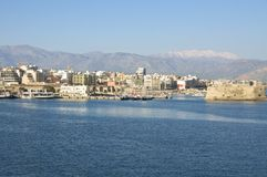 Harbor of Heraklion Royalty Free Stock Photos