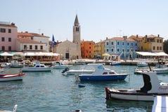 Fazana in Istria, Croatia. Harbor and historic center of Fasana in Istria stock photos