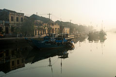 Harbor of Hoi An, Vietnam Stock Photography