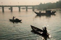 Harbor of Hoi An, Vietnam royalty free stock image