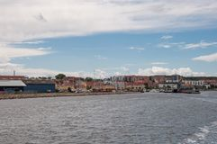 Harbor of Holbaek city in Denmark. On a summer day Stock Photography