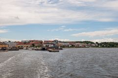 Harbor of Holbaek town in Denmark. On a summer day Royalty Free Stock Photo