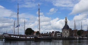 Harbor of Hoorn in The Netherlands Royalty Free Stock Images