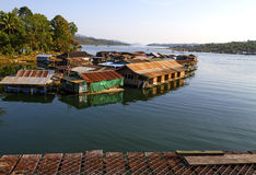 Harbor and houseboat Royalty Free Stock Photography