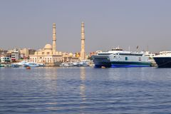 Harbor of Hurghada. In Egypt Royalty Free Stock Photography