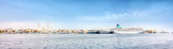 Harbor of Hurghada in Egypt royalty free stock photos