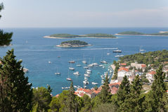 The harbor of hvar Stock Images