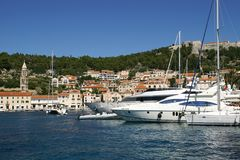 Harbor in Hvar Stock Images