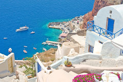 The harbor at Ia, Santorini. Royalty Free Stock Photo