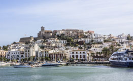 Harbor of Ibiza Stock Photography