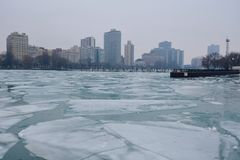 Harbor Ice Stock Photography