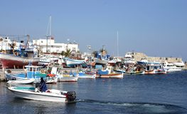 The harbor in Ierapetra, Crete Stock Photo