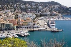 Harbor In Nice France Stock Photo