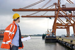 Harbor Inspection Royalty Free Stock Photography