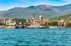 Harbor of Intra Verbania, is a little town on the shore of Lake Maggiore. Harbor of Intra Verbania, is a little town on the shore of Lake Maggiore, Italy royalty free stock photography