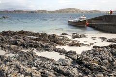 Harbor at Iona, Scotland Stock Photos