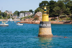 Harbor of Island of Brehat in Bretagne, France Royalty Free Stock Photography