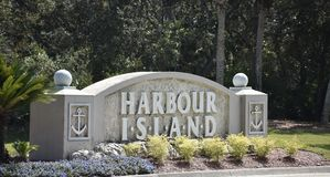 Harbour Island, St. Augustine, Florida. Harbor Island offers you the feeling of secluded tranquility while only a short walk away from popular restaurants and stock photography