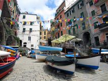 Harbor on Italian coast Royalty Free Stock Photos