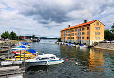 Harbor of Karlskrona, Sweden Royalty Free Stock Photo