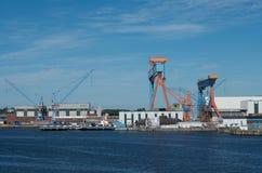 Harbor of Kiel, Germany Royalty Free Stock Image