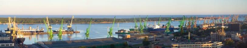 Harbor Klaipeda Stock Images
