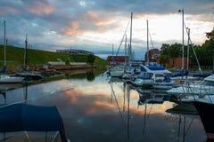 Harbor in Klaipeda stock image