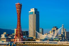 Harbor of Kobe in Hyogo Japan Royalty Free Stock Photography