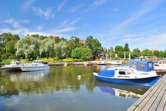 Harbor of Kotka,  Finland Royalty Free Stock Photos