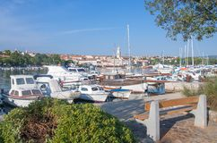 Harbor of Krk,Krk Island,Croatia Stock Photo