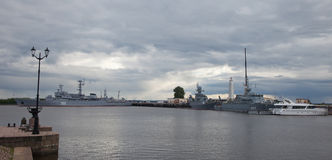 In harbor of Kronstadt. Royalty Free Stock Photo
