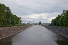 In harbor of Kronstadt. St.Petersburg area. Russian Federation Stock Photography