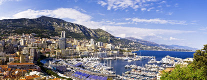 Harbor of la Condamine, Monaco. Monaco view from the harbor of la Condamine Royalty Free Stock Photography