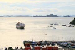 Harbor in Labuan Bajo Royalty Free Stock Photos