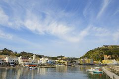 Harbor of Lacco Ameno village, Ischia island, Italy Royalty Free Stock Photography