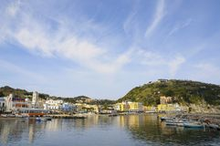 Harbor of Lacco Ameno village, Ischia island, Italy Royalty Free Stock Photos