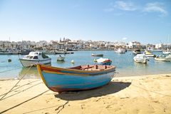 Harbor from Lagos in the Algarve Portugal. Harbor from Lagos in the Algarve in Portugal Royalty Free Stock Photos